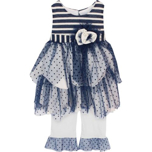 Isobella & Chloe Baby Girls Navy Marina Two Piece Pant Outfit Set 18M