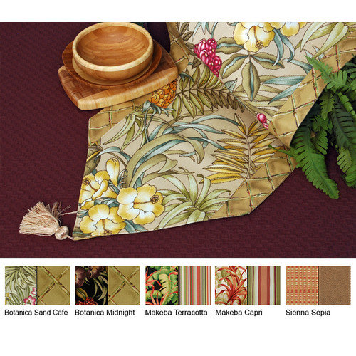 Pacific Table Linens Outdoor Reversible Table Runner