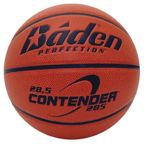 Baden B285W-04-F Contender Official Wide Channel Basketball Size 28. 5 inch , Natural Orange Color