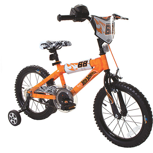 "16"" Hot Wheels Boys' Bike, Orange"