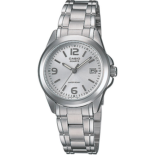 Casio Women's Silver Dial Watch, Stainless-Steel Bracelet