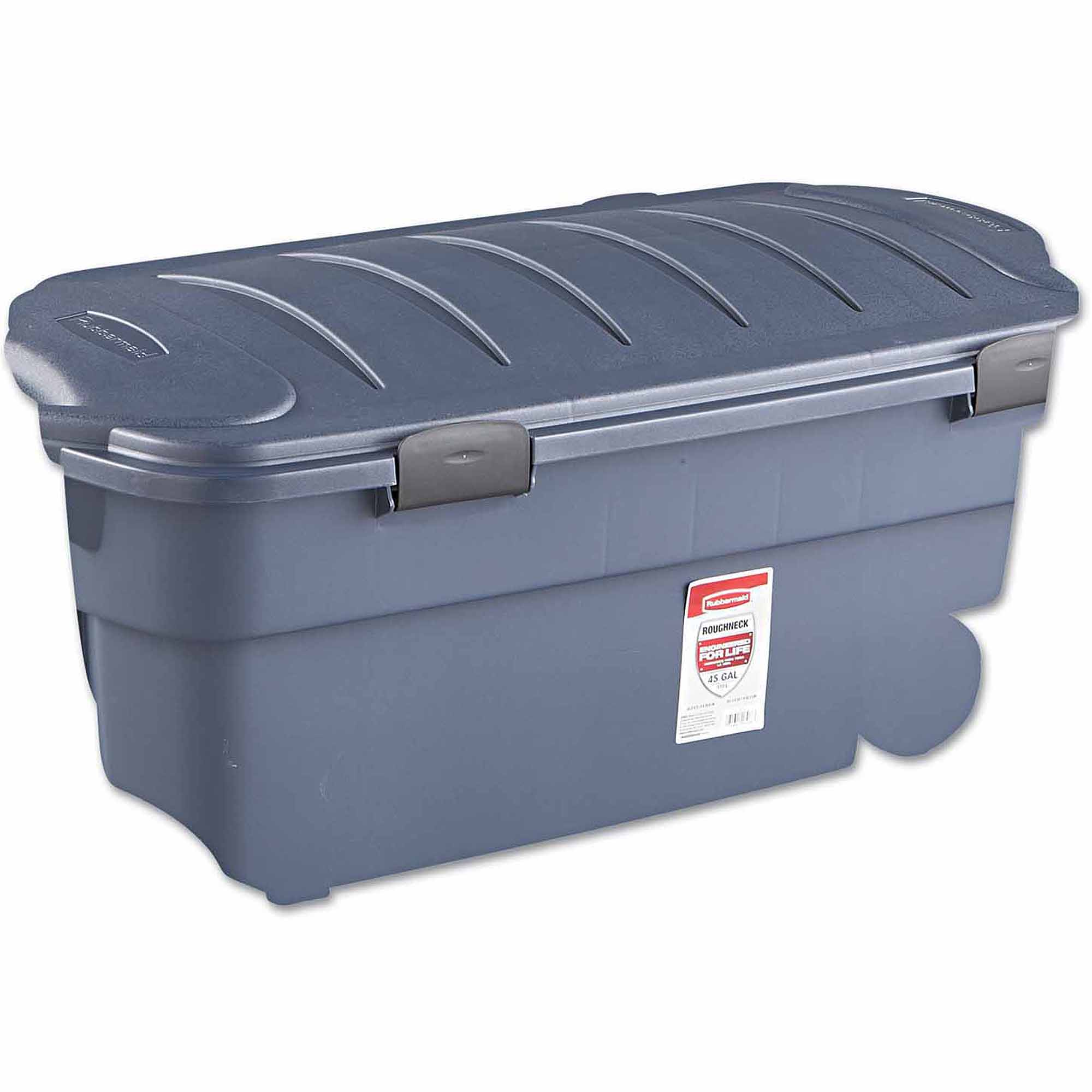 Rubbermaid Roughneck Wheeled Storage Box, 45gal, Dark Indigo Metallic