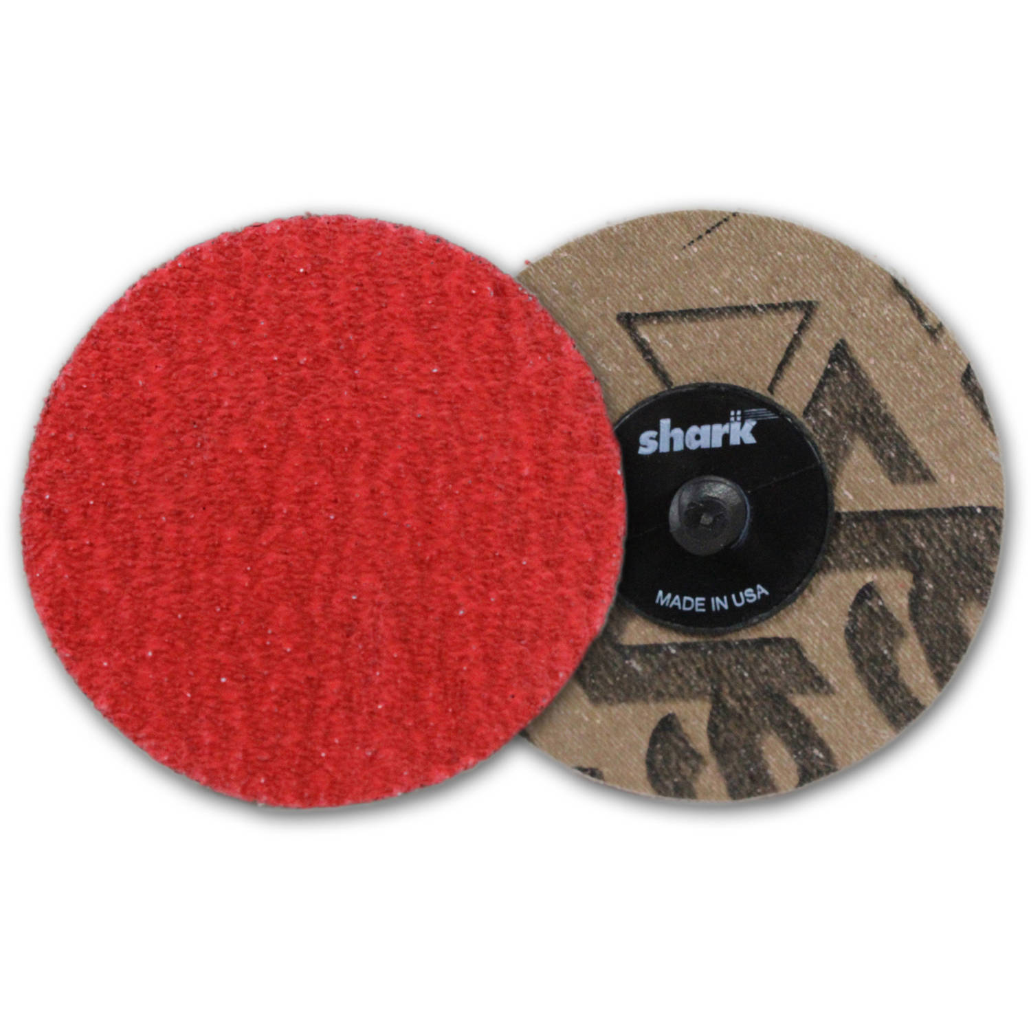 "Shark Red Ceramic Grinding Discs, 3"", 25-Pack, 50 Grit"
