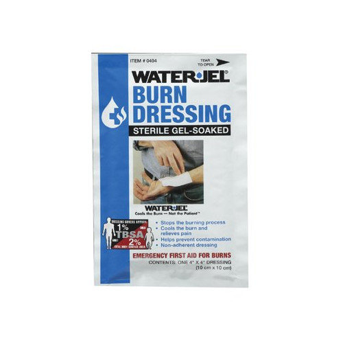 North Safety North Safety - Water Jel Burn Products Water-Jel Dressing4'' X 4'': 068-049077 - water-jel dressing4'' x 4''