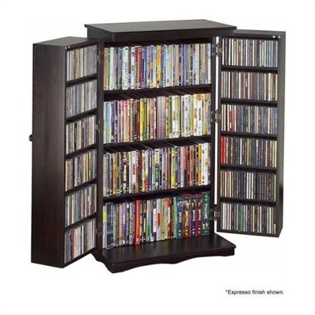"Leslie Dame 40"" CD DVD Media Storage Cabinet in Cherry by"