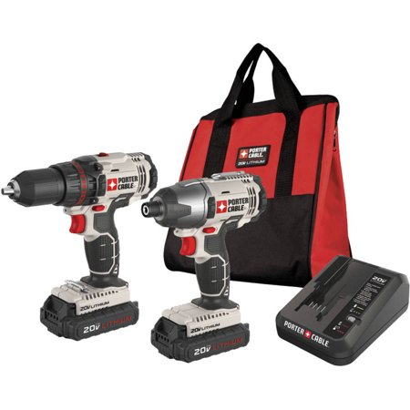 Buy Porter-cable Pcck604l2 20-volt Li-ion Drill Impact Driver Combo Kit
