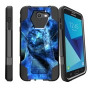 Case for Samsung Galaxy J7 PRO | J7-V 2017 | SKY PRO [ Shock Fusion ] Hybrid Layers and Kickstand Case Galaxy Collection