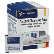 FIRST AID ONLY H305 Alcohol Cleansing Pads, 1-1/4x2-5/8, PK100