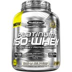 MuscleTech Essential Series Platinum 100% Iso-Whey Vanilla Ice Cream Dietary Supplement Powder, 3.27 lbs