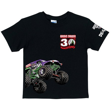 Personalized monster jam grave digger 39 s 30th anniversary for Toddler custom t shirts no minimum