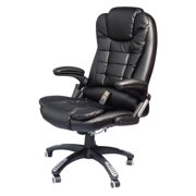 HomCom Executive Ergonomic PU Leather Heated Vibrating Massage Office Chair