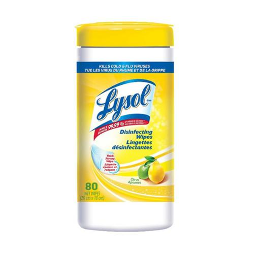 LYSOL Disinfecting Wipes, Citrus 80 ea (Pack of 6)