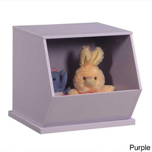 Wooden Stackable Storage Cubby Purple