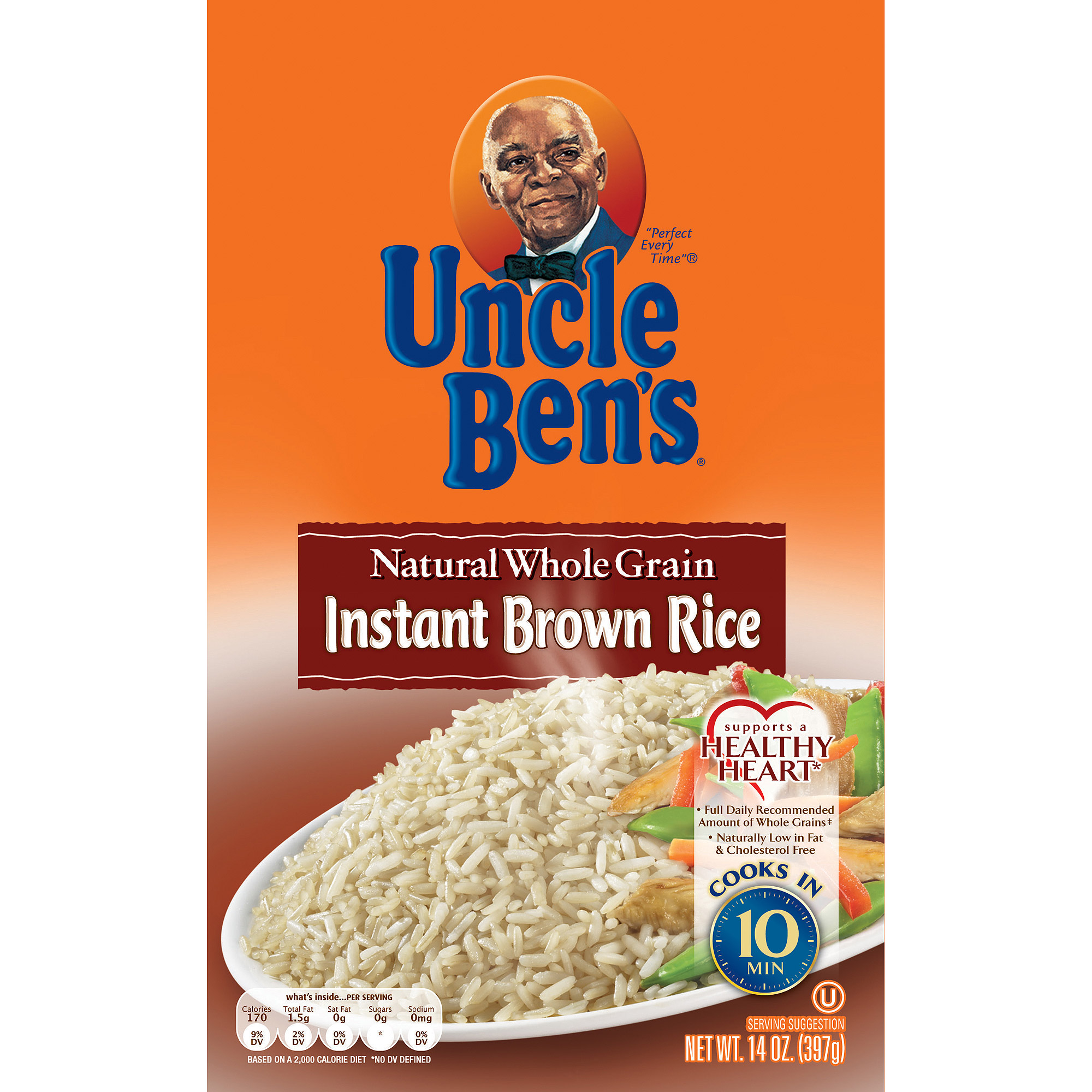 Uncle Ben's Whole Grain Instant Brown Rice Fast & Natural, 14 oz