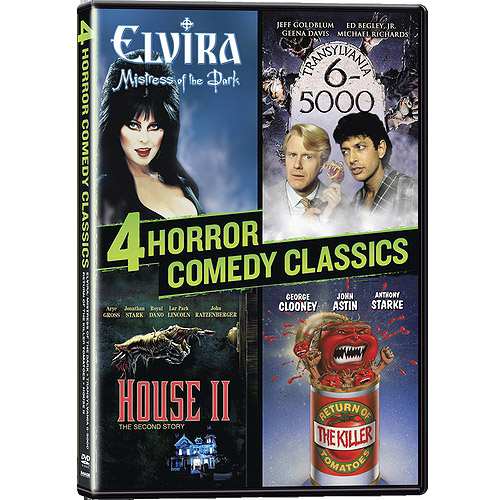 4 Horror Comedy Classics - Elvira: Mistress Of The Dark / Translyvania 6-5000 / Return Of The Killer Tomatoes / House II (Widescreen)