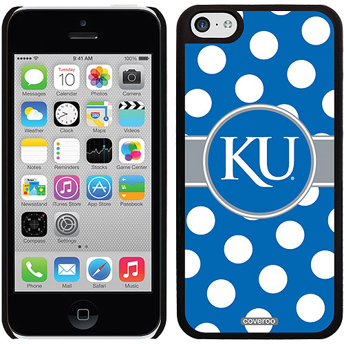University of Kansas Polka Dots Design on iPhone 5c Thinshield Snap-On Case by Coveroo