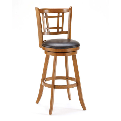 Hillsdale Furniture Fairfox Swivel Bar Stool, Medium Oak