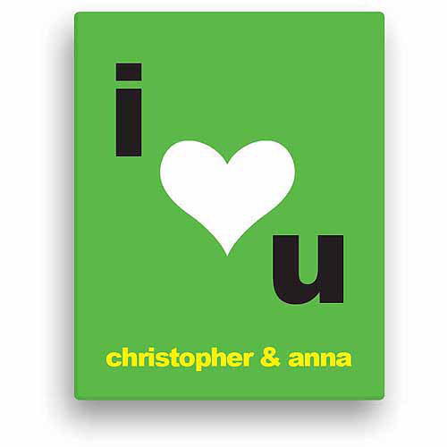 I Heart You Personalized Canvas
