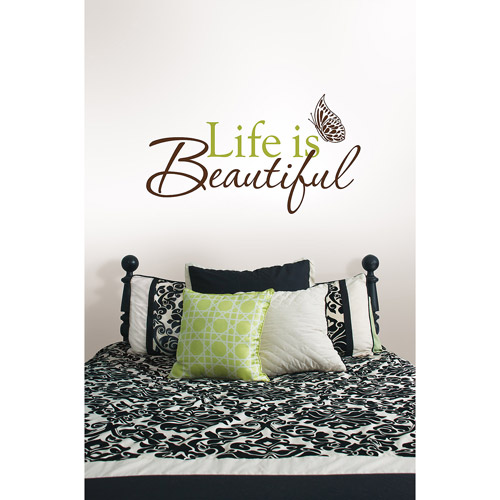 "WallPops ""Life Is Beautiful"" Wall Art Decals"