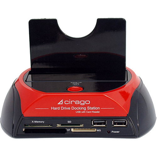 Cirago CDD1000 Hard Drive Docking Station with Card Reader