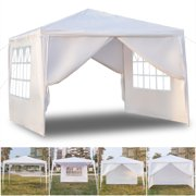 Top Knobs 10 x 10 Easy Set up Canopy Tent Commercial Instant Tents Market stall with 4 Removable Sidewalls (White)
