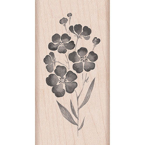 "Hero Arts Mounted Rubber Stamps, 4"" x 2"", Flowers On A Stem"