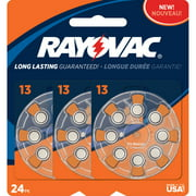 Rayovac Type 13 Hearing Aid Batteries, 24-Pack