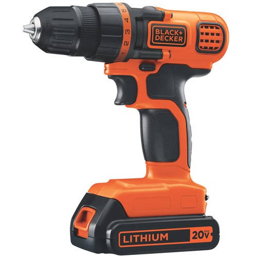 Black & Decker 20V MAX Lithium Ion Drill/Driver, LDX120C