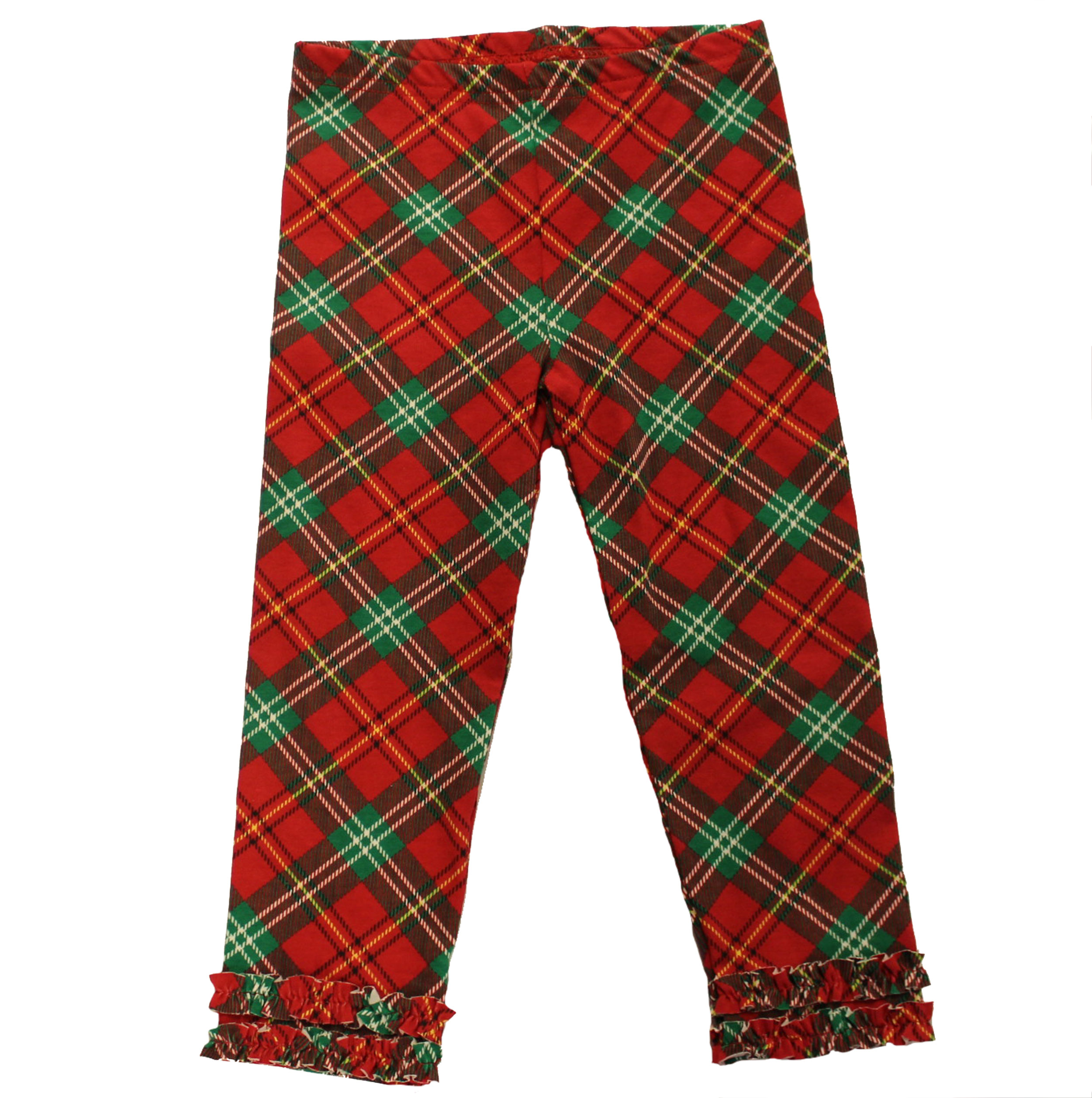 Toddler Girl Christmas Plaid Legging