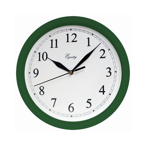 GENEVA/ADVANCE CLOCK CO Tradition 10-Inch Round Hunter Green Wall Clock