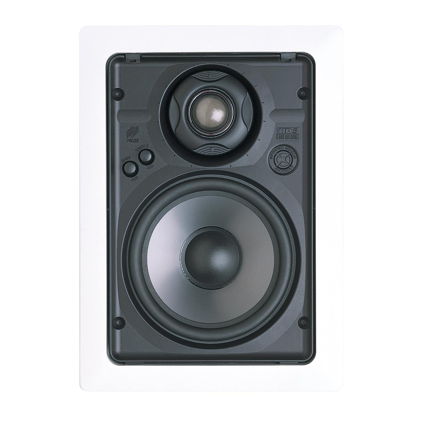 "Niles HD5R 5-1/4"" 2-Way High Definition In-Wall Loudspeaker with Bracket Kit- Pair (White)"