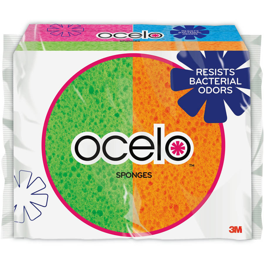 ocelo Handy Sponge , 4.7 in x 3 in x .6 in, 6 pack