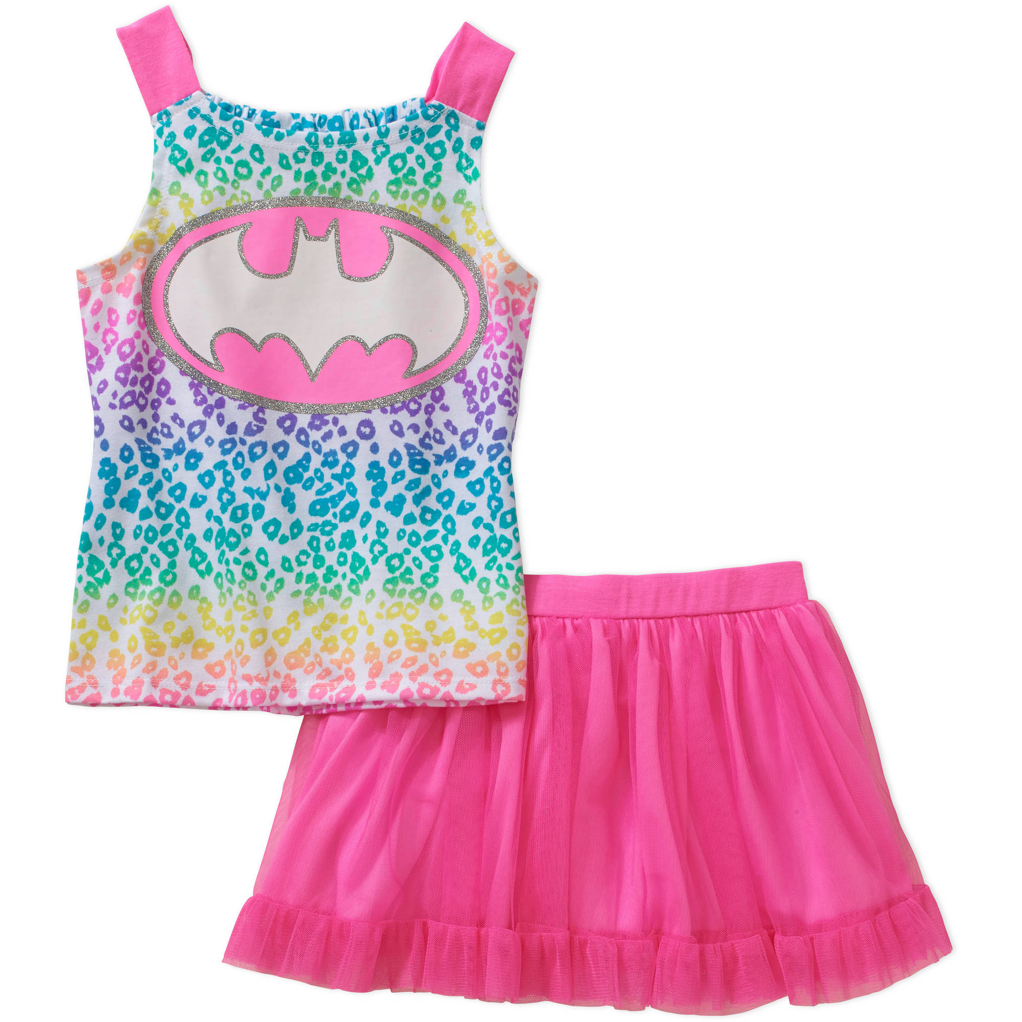 Batgirl Baby Toddler Girl Tank and Skirt Outfit Set