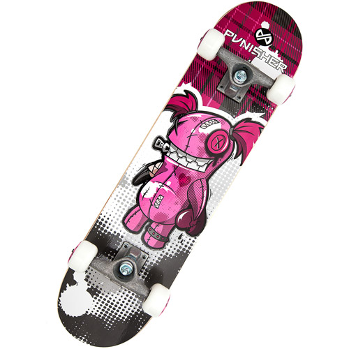 "Punisher Skateboards 31"" ABEC-5 Complete Skateboard, Voodoo"