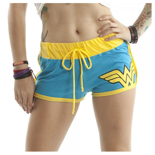 DC Comics Wonder Woman Logo Mesh Juniors Booty Shorts