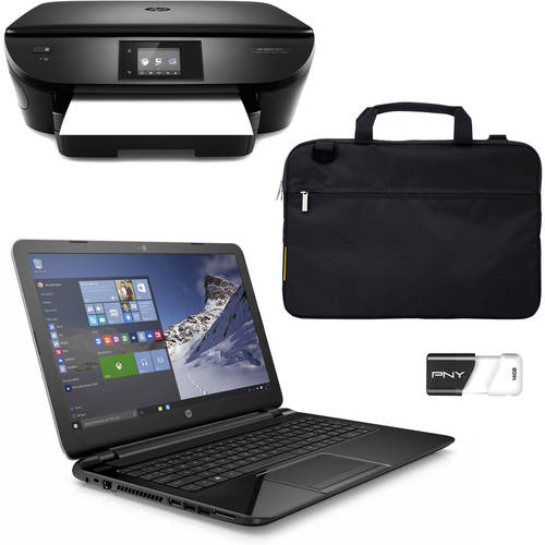 Laptop Value Bundle w/Choice of Laptop, Case, Flash Drive & Printer