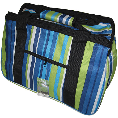 "JanetBasket Blue Stripes Eco Bag, 18"" x 10"" x 12"""