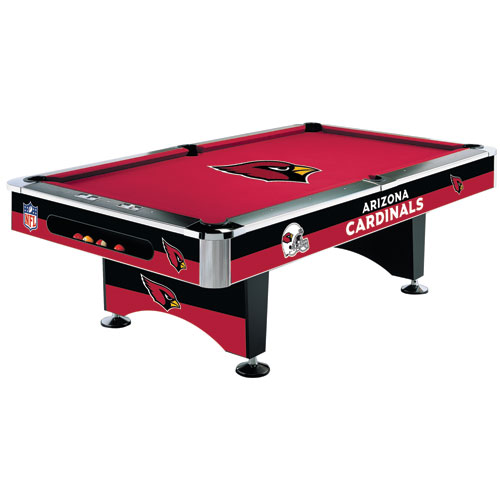 NFL Arizona Cardinals Pool Table - 8 Foot with Logo Cloth