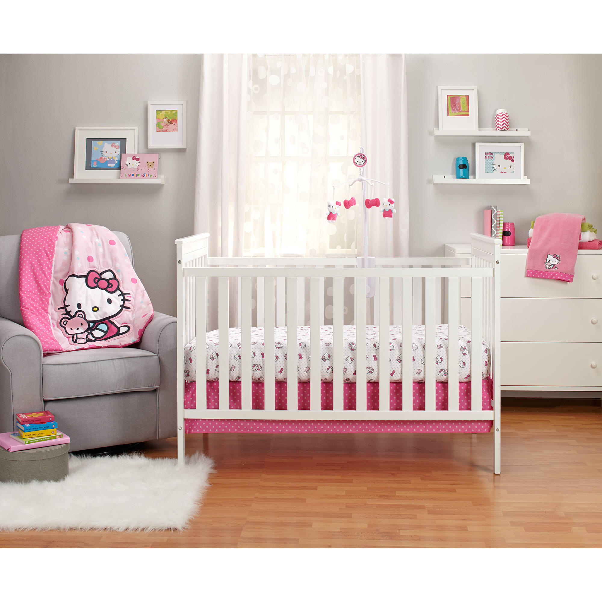 Hello Kitty Cute as a Button 3-Piece Crib Bedding Set