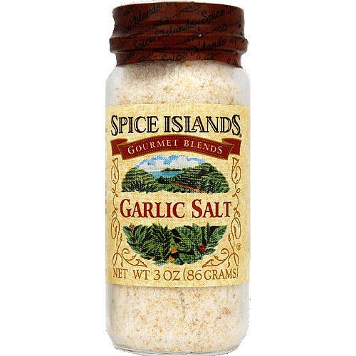 Spice Islands Garlic Salt, 3 oz, (Pack of 3)