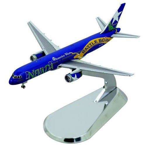 Gemini Jets Diecast America West Battle Born B757-200 Model Airplane