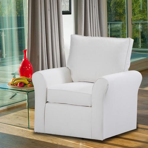 Belle Meade Swivel Arm Chair Belle Meade Swivel Arm Chair - Natural