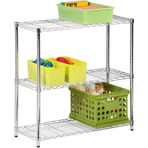 Honey Can Do Urban Shelving 3-Tier Adjustable Storage Shelving Unit, Chrome