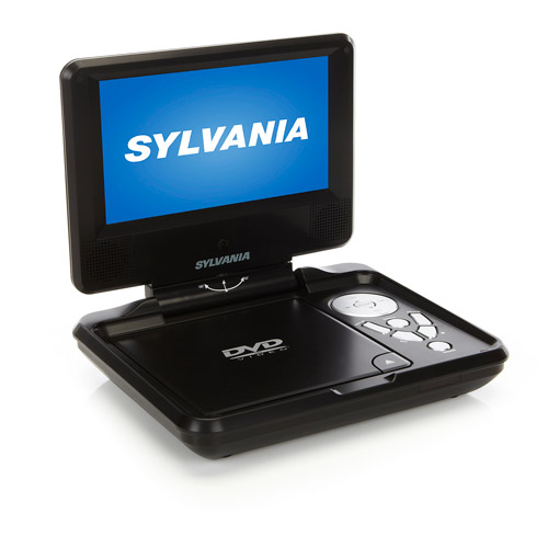 "Sylvania Swivel SDVD7027 7"" Portable DVD Player, Black"