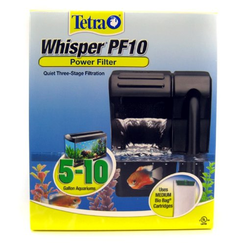 Tetra Whisper PF10 Power Filter - New Design Whisper PF-10 - (Aquariums 5-10 Gallons)