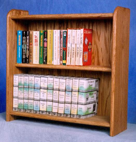 2 Shelf Media Storage (Honey Oak)