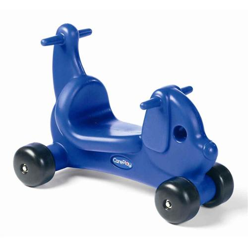 Kids Puppy Ride-On in Blue Molded Plastic with Handles (Red)