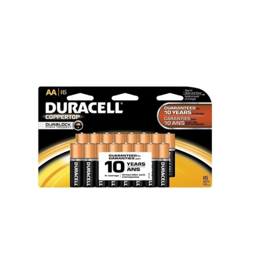 Duracell Coppertop AA Alkaline Batteries 16 ea (Pack of 2)