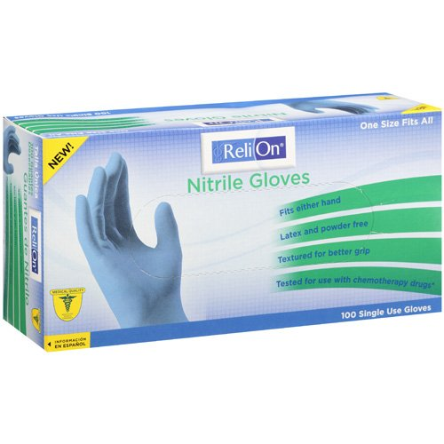 Relion Single Use Nitrile Gloves, 100 count