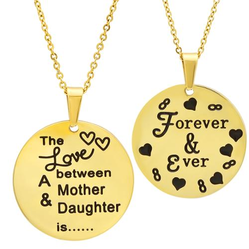 Gold Plated 'The Love Between a Mother and Daughter is…Forever & Ever' Necklace